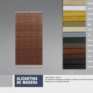 Alicantina de madera