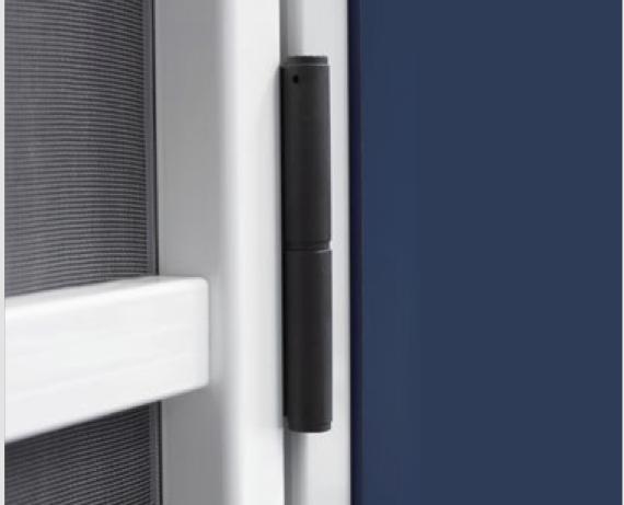 Mosquitera de puerta con apertura con marco solardeco for Mosquitera de puerta