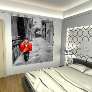 cortinas enrollables con impresion digital rojo
