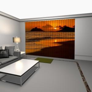 cortinas verticales con impresion digital amanecer