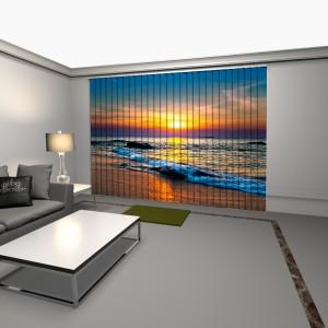 cortinas verticales con impresion digital anochecer