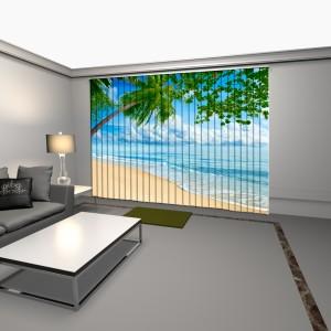 cortinas verticales con impresion digital playa