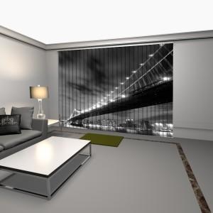 cortinas verticales con impresion digital puente