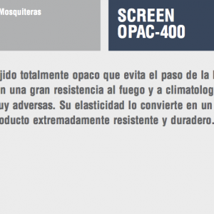 Mosquitera enrollable screen