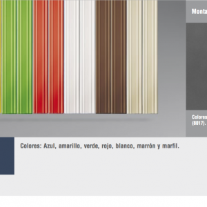 Cortinas de tiras variadas cinta economica