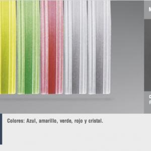 Cortinas de tiras variadas cinta transparente