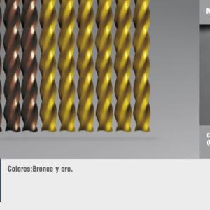 Cortinas de tiras variadas florida oro-bronce
