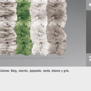 Cortinas de tiras variadas roma