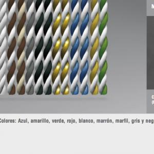 Cortinas de tiras variadas trenzada
