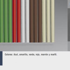 Cortinas de tiras variadas tubo liso